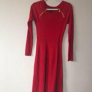 INC International Concepts knit midi dress